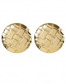 Gertie Gold Weave Circular Stud Earrings