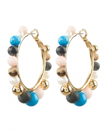 Cleo Multicolored Beaded Hoops