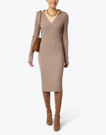 Vince - Maple Wool Cashmere Ribbed Polo Dress