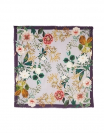 St. Piece - Meghan Lilac Floral Printed Wool and Cashmere Scarf