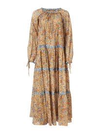 Colonial Orange Floral Printed Maxi Dress
