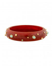 Gas Bijoux - Nae Red Resin Aqua Stoned Bangle Bracelet