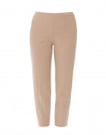 Audrey Tan Stretch Cotton Capri Pant