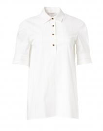 Boyes White Stripe Stretch Cotton Top