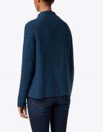 Kinross - Teal Garter Stitch Cotton Cardigan