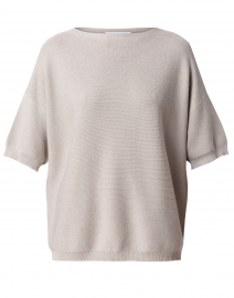 Beige Cotton Lurex Sweater