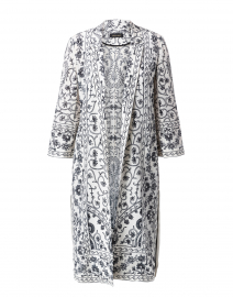 Suzette Printed Silk Duster Coat