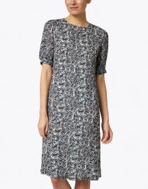 Aspesi - Navy and White Painterly Printed Dress