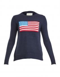 Navy American Flag Cotton Intarsia Sweater