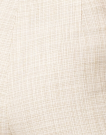Piazza Sempione - Audrey White and Beige Micro Check Stretch Viscose Pant
