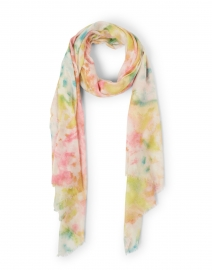 Multicolor Splash Print Silk Cashmere Scarf