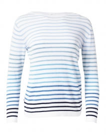 Multi Blue Striped Cotton Sweater