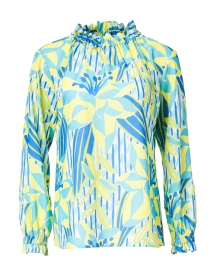 Palms of Paradise Print Crepe Top