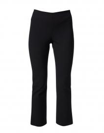 Black Cotton Bi Stretch Crop Flare Pant