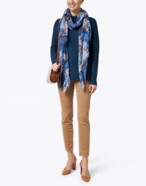Kinross - Teal Garter Stitch Cotton Sweater