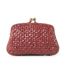 Blair Burgundy Leather Loom Clutch