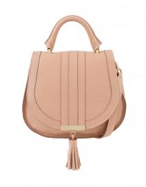 Mini Venice Blush Pebbled Leather Cross-Body Bag