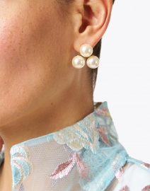 Jennifer Behr - Polly Three Pearl Stud Earrings