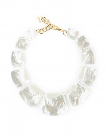 White Mother of Pearl Statement Necklace
