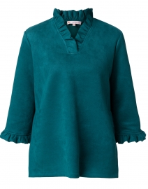 Cora Jade Green Faux Suede Tunic Top