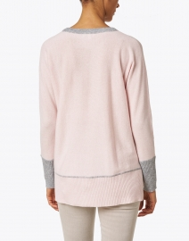 Kinross - Petal Pink and Grey Cashmere Sweater