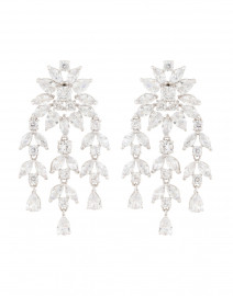 Monarch Crystal Fern Drop Earrings