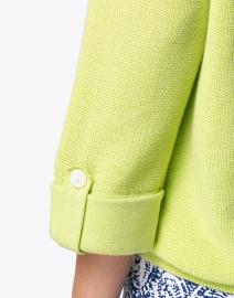 Belford - Apple Green Cotton Tab Sleeve Sweater