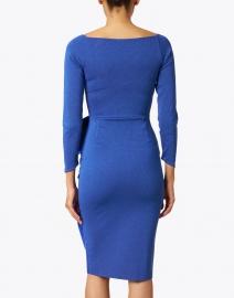 Chiara Boni La Petite Robe - Silveria Cobalt Blue Lurex Stretch Dress