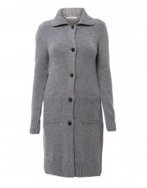 Bugia Grey Cashmere Cardigan
