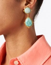 Sylvia Toledano - Two Amazonite Stone Drop Earrings