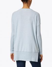 Kinross - Light Blue Cashmere Zip Up Henley Sweater