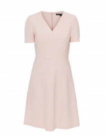 Pale Pink Fit and Flare Dress