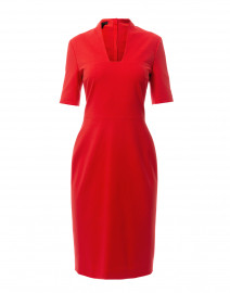 Danisi Red Stretch Jersey Dress