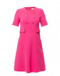 Brigitte Pink Wool Crepe Dress