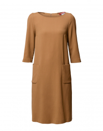 Siri Camel Wool Crepe Dress