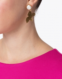 Megan Park - Sigrid Gold and Pearl Drop Earring