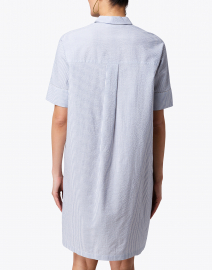Fabiana Filippi - Blue and White Seersucker Shirt Dress