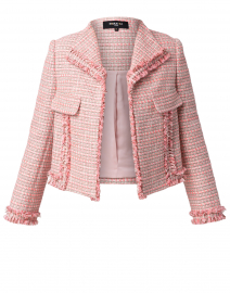 Pink Tweed Jacket with Pockets
