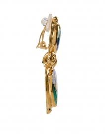 Gas Bijoux - Colorado Green and Gold Drop Clip Earring