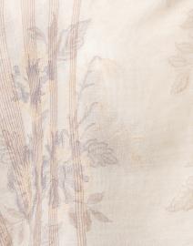 Tilo - Angelic Beige Floral Cotton Scarf
