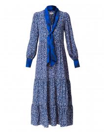 Sandhya Navy Floral Silk Maxi Dress