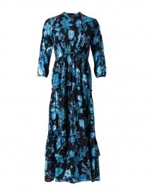 Bazaar Blue and Black Woodland Printed Cotton Dress