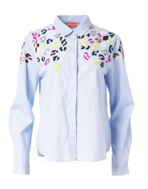 Sonia Blue Poplin Cotton Shirt