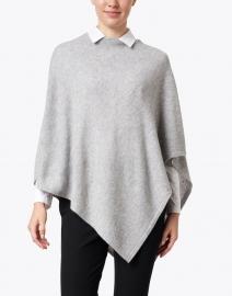 Kinross - Grey Crystal Embellished Cashmere Poncho