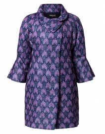 Matelasse Blue Violet Swing Coat