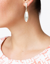 Alexis Bittar - Ivory Pave Capped Petal Post Earring