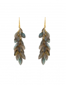 Gala Labradorite Cluster Drop Earrings
