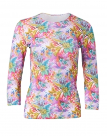 Lush Tropical Stretch Jersey Tee
