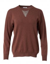 Rust Brown Wool Silk Cashmere Sweater