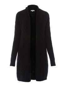 Sophie Black Cable Knit Cashmere Cardigan